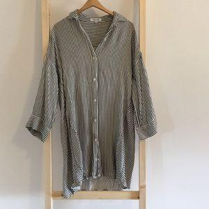 Madewell Button Up Long Sleeve Shirt Dress